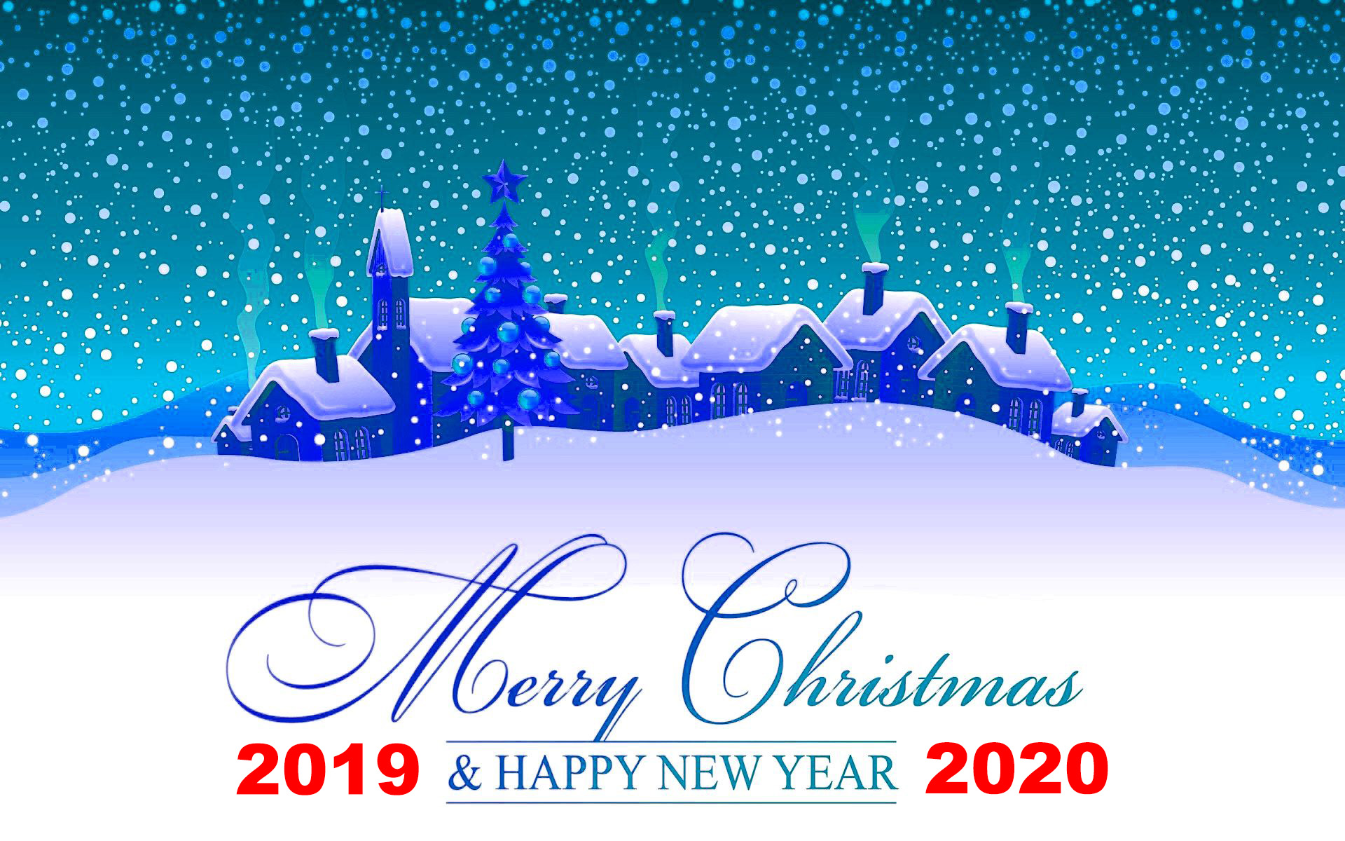 Merry Christmas 2019 And Happy New Year 2020